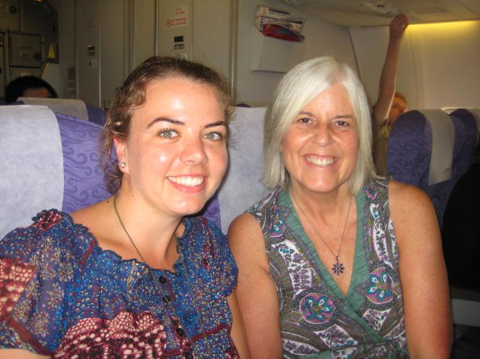 suzanne & me on the plane