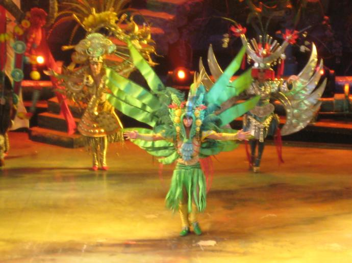 spectacular costumes at the ending ceremony