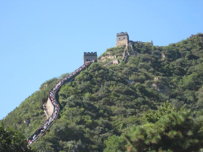 the great wall at badaling, 70 km northwest of beijing