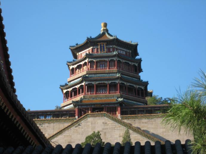 a pavilion at the Summer Palace