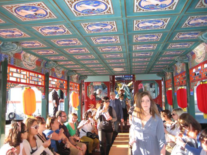 inside the dragon boat