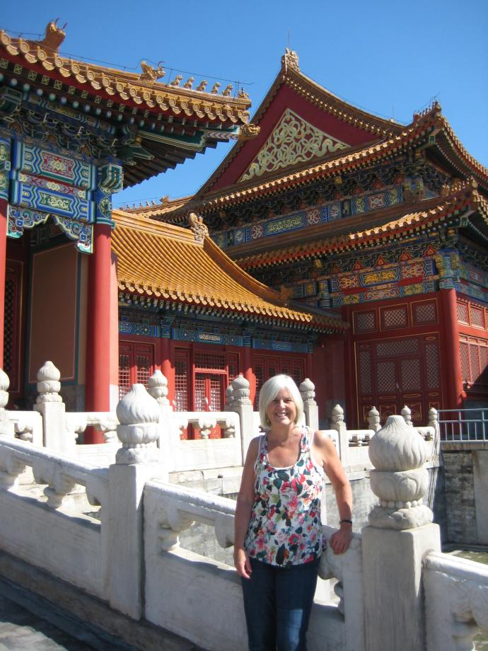 me at the forbidden city