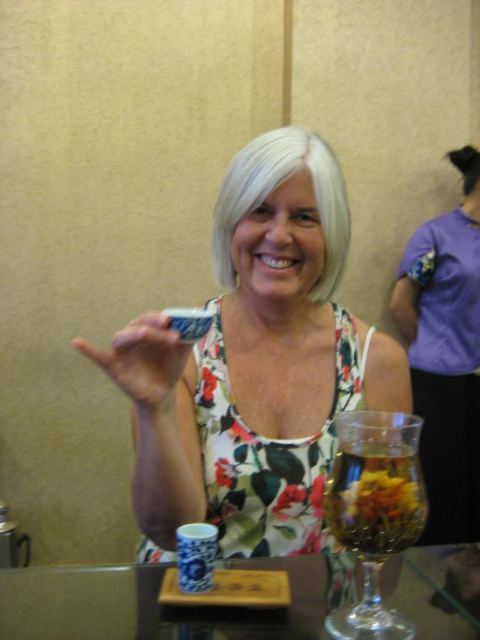 sampling tea at the tea ceremony