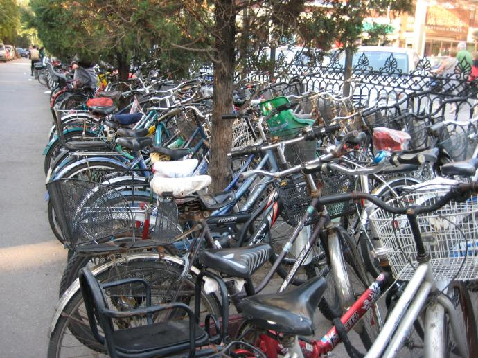 bicycles outside the yashow market