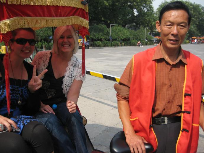 suzanne, me & our rickshaw driver