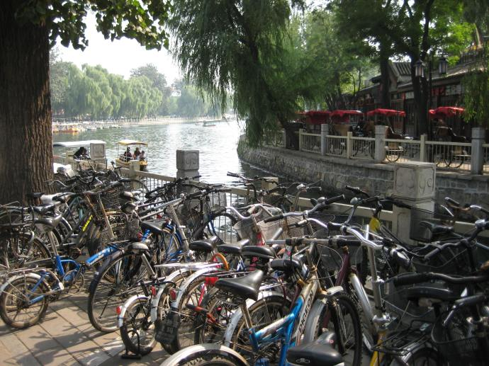 bicycles at houhai lake