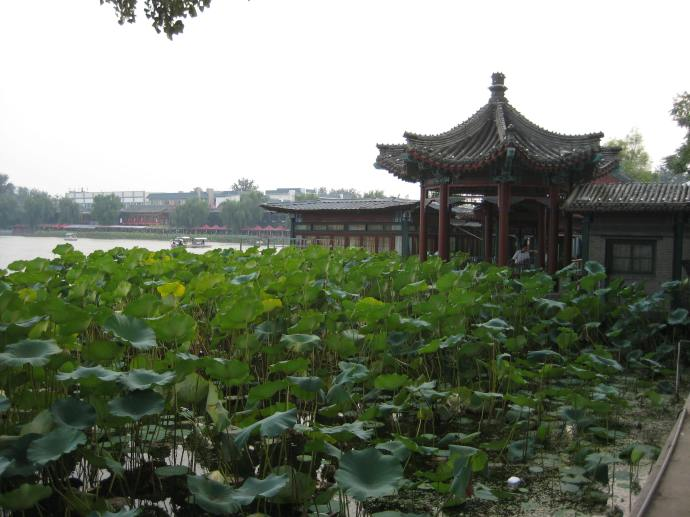 on the other side of houhai lake