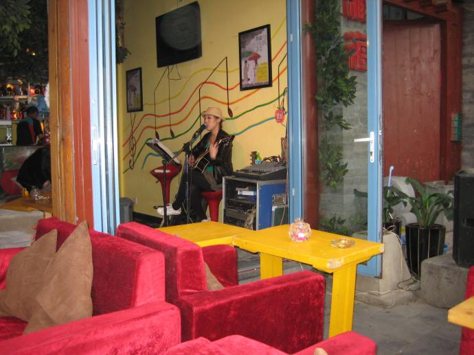 the AUTHENTIC MEXICAN BEER outdoor cafe with live music along the lake