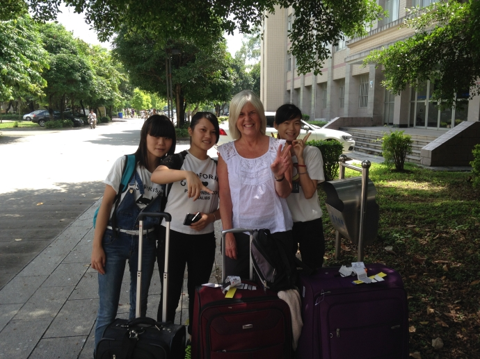 My first encounter with Chinese students upon my arrival