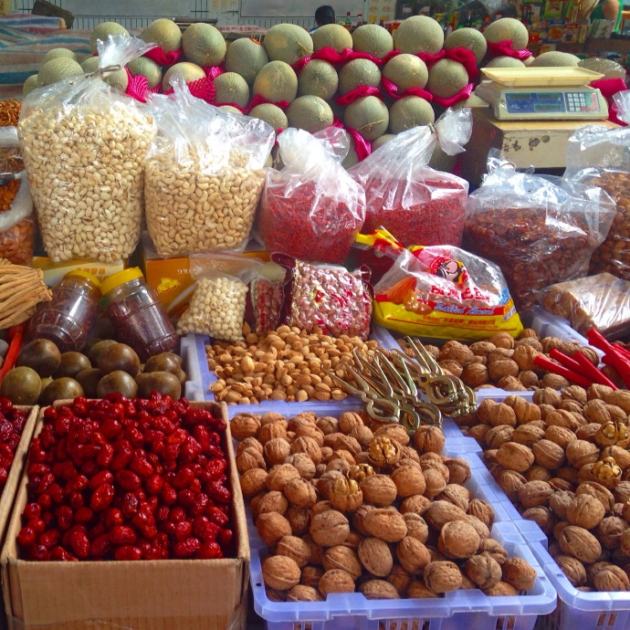 the open air fresh food market