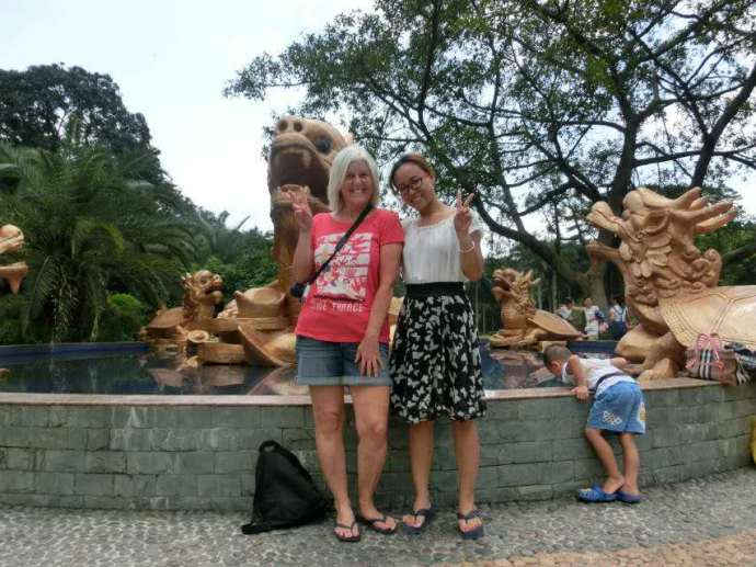 Me, Chen's wife and their little boy