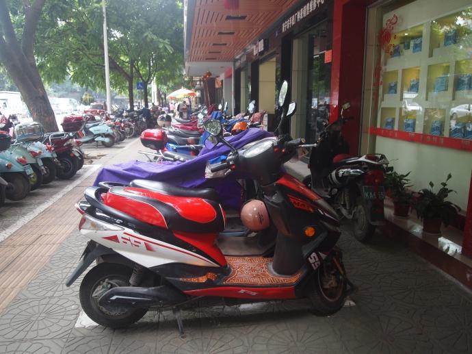 Motorbikes in Nanning