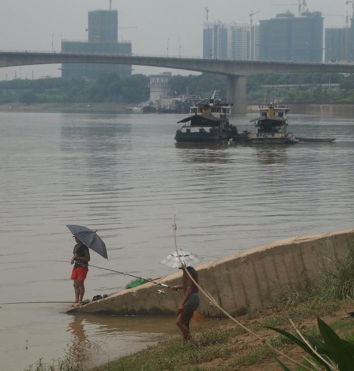 fishermen and fishing boats