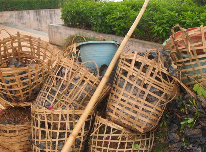 baskets and debris
