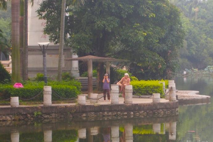 some older ladies doing tai chi
