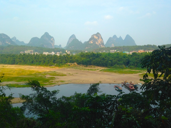 karst landscape from Green Lotus Peak