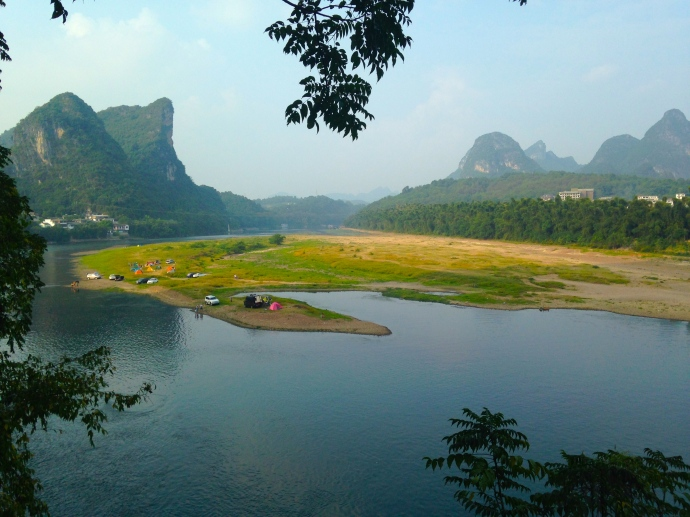 view across the Li River