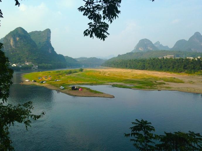 view across the Li River