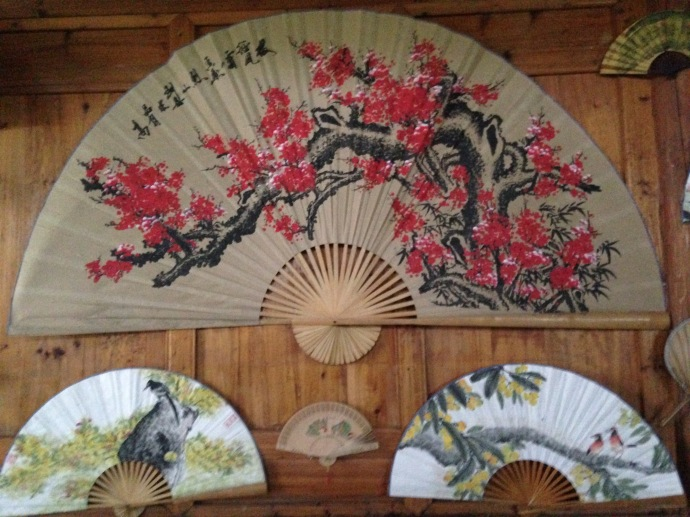 fans created by an artist at Green Lotus Peak