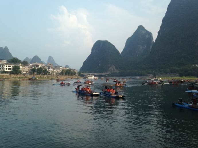 Boat rides from Yangshuo