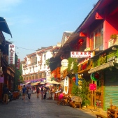 colorful watered-down streets