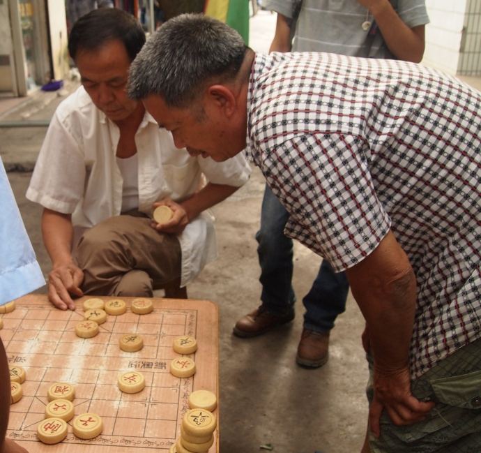 a game of Chinese checkers