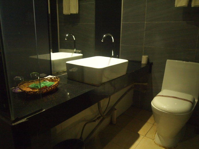 Fancy bathroom at my Daxin hotel