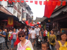 crowds on Xi Jie, better known as West Street