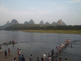 tourists on the Li River