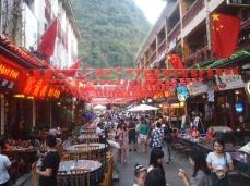 street full of cafes