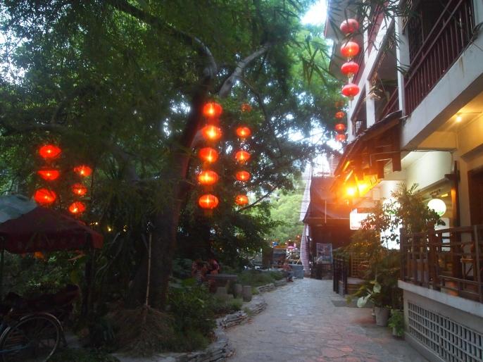 lantern-lit walkway