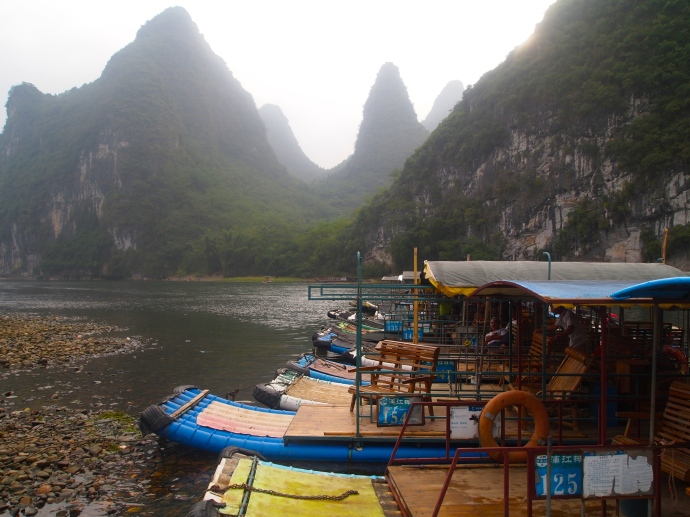 Boats in Yangdi