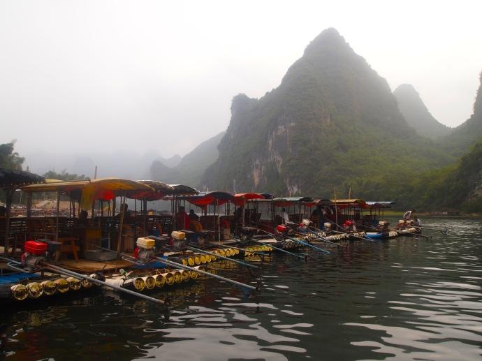 Boats in Yangdi