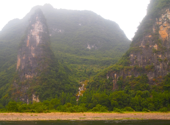 Waterfall along the Li River