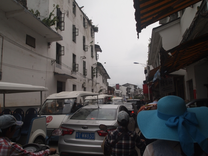 Making our way to the bus terminal at Xingping