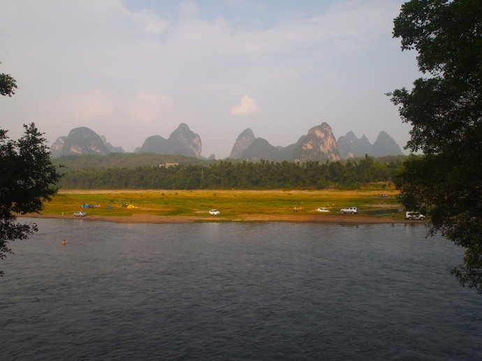 view of karst landscape from Green Lotus Peak
