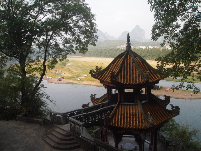 pagoda and karst background