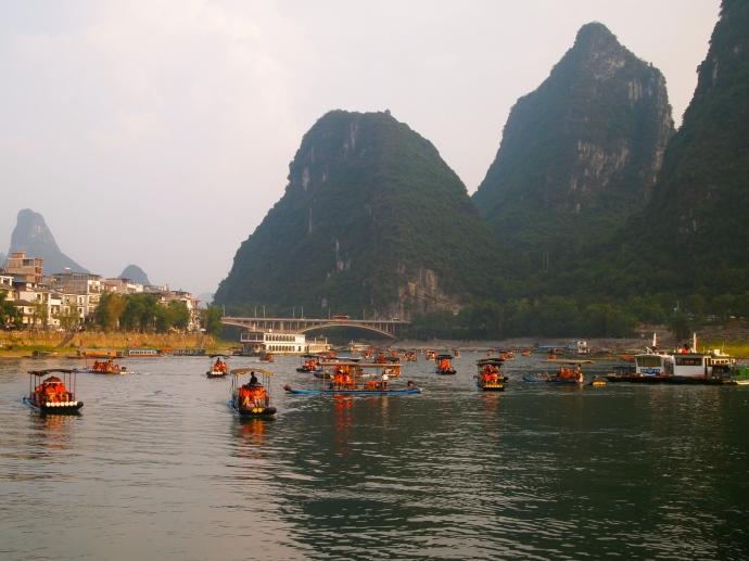 Boats in Yangshuo