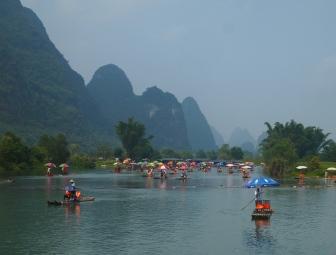 a flotilla of boats