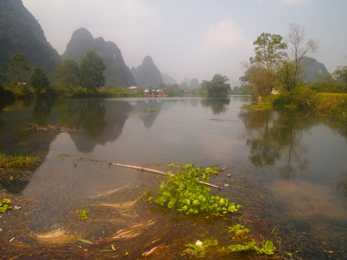 a less-touristy part of the Yulong River