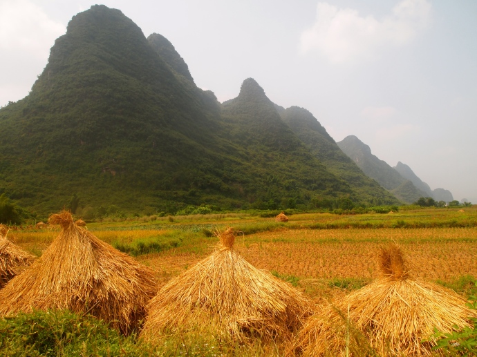 hay mountains and karst mountains
