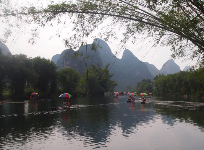 the Yulong River in front of the Yangshuo Mountain Retreat