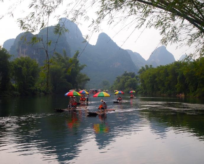 Yulong River boats