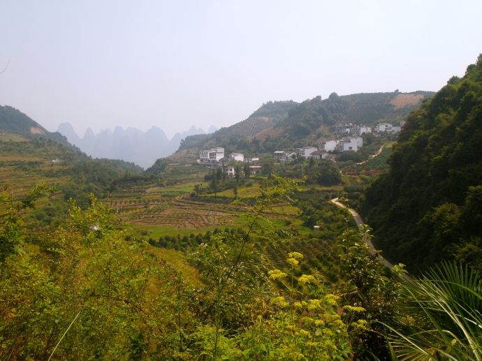 the winding road into the valley