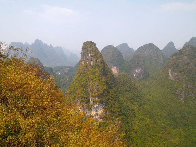 looking south from Xianggong Hill