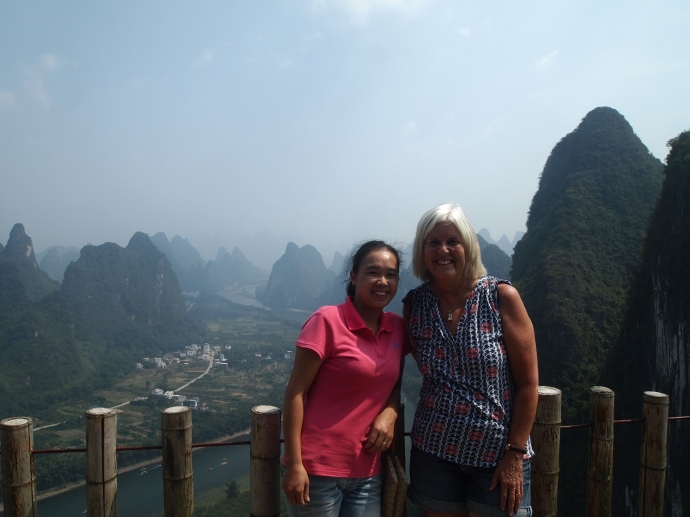 Vivian and me on Xianggong Hill