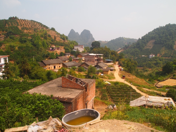 Vivian's brother's property and their village