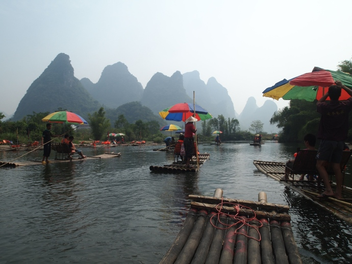 karst backdrop to the YuLong River