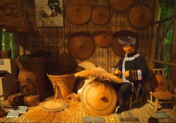 Florid bamboo woven hats