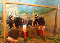 Bronze drum bearers